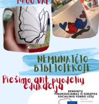 Piešimo ant puodelių edukacija | Nemunaitis