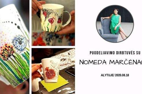 Puodeliavimo dirbtuvės su Nomeda Marčėnaite Alytuje