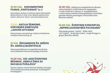 Lietuvos Nepriklausomybės atkūrimo 30-mečio programa