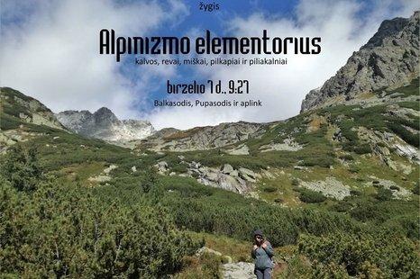 """Žygis pėsčiomis po Alytaus rajoną """"Alpinizmo elementorius"""""""