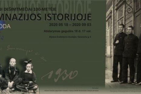 Pirmieji dešimtmečiai 100-metėje gimnazijos istorijoje