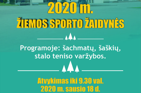 """Lietuvos sporto draugijos """"Žalgiris"""" žiemos sporto žaidynių varžybos"""