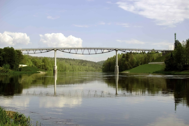 Baltosios rožės tiltas (pėsčiųjų ir dviračių)