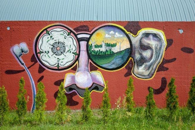 Граффити у Оздоровительной дорожки