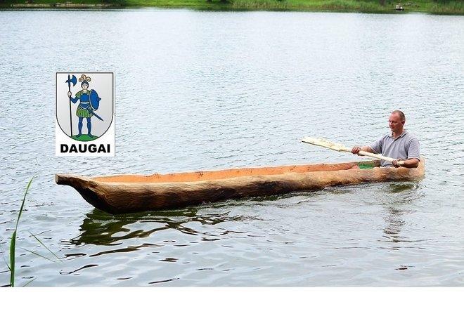 Recreational lake skiff in Daugai lake